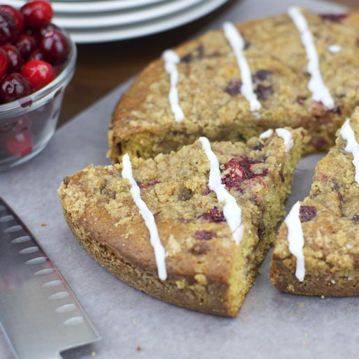 Cranberry Sauce Coffee Cake