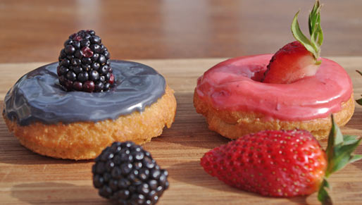 Berry Delicious Cake Donuts