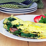 Green Eggs and Ham Omelette (California Style)