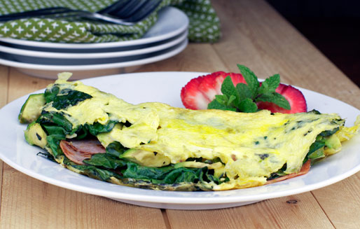 Green Eggs and Ham Omelette