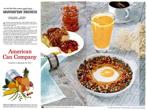 Vintage 1954 CANCO Brunch Ad