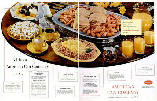 Vintage 1955 CANCO Breakfast Ad