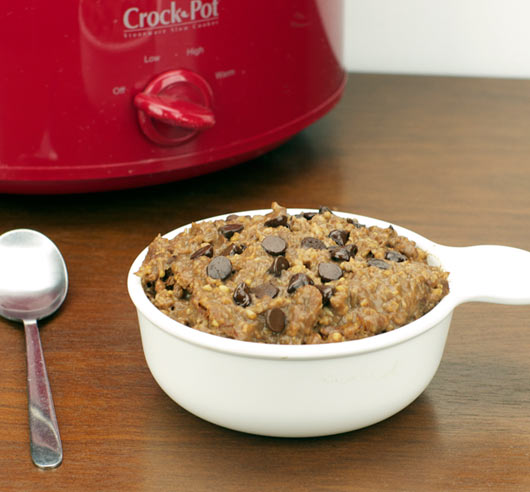 Chocolate Steel Cut Oatmeal (Slow Cooker)