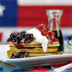 Red, White & Blueberry Pancakes