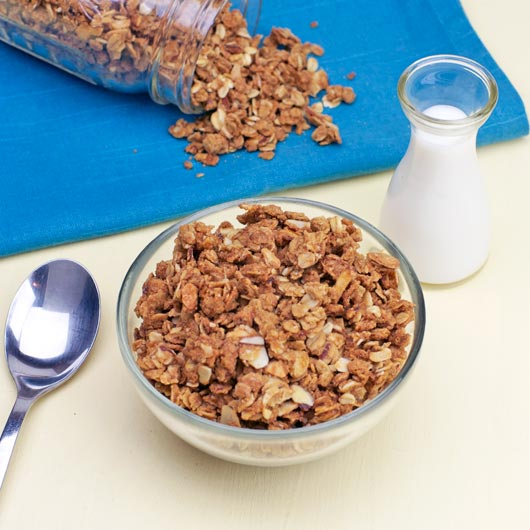 Bowl of Toffee Almond Granola