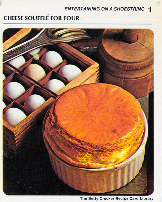 Cheese Souffle From Vintage 1971 Recipe Card