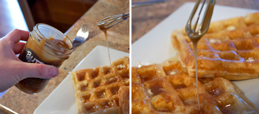 Butterscotch Topping On Waffles