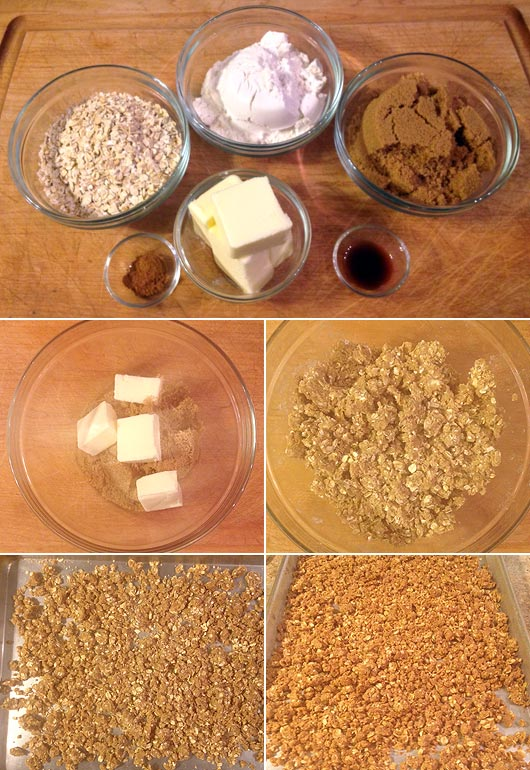 Making Crumble Topping (For Oatmeal)