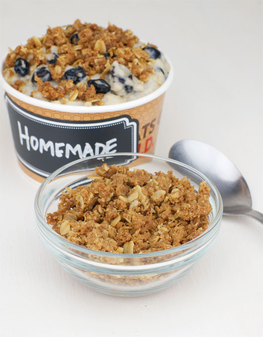Crumble Topping (For Oatmeal)