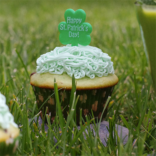Pistachio Pudding Muffin In The Grass