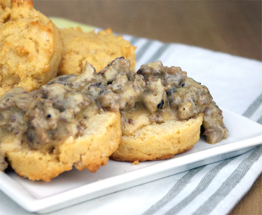 Stone Age Biscuits And Gravy (Gluten-Free)