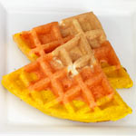 Candy Corn Colored Waffles