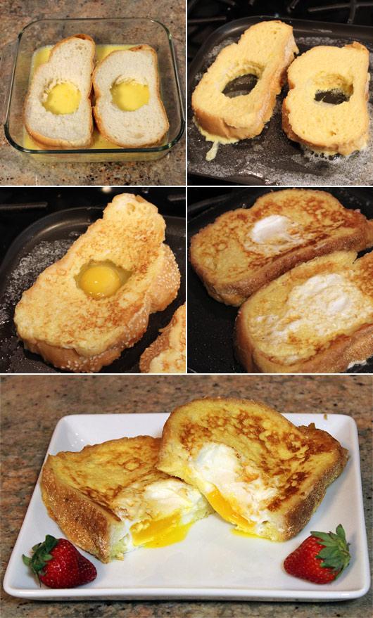 French toast bird nests recipe mrbreakfast making french toast bird nests forumfinder Image collections