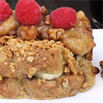 Extreme Banana Nut Crunch Stuffed French Toast