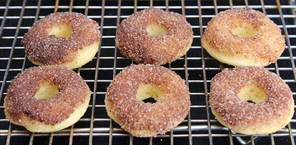 Mini Baked Cake Donuts With Cinnamon Sugar Topping