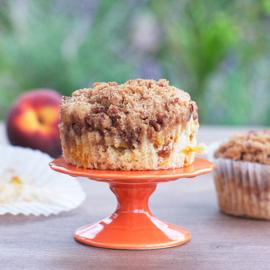Peach Muffin On A Pedestal