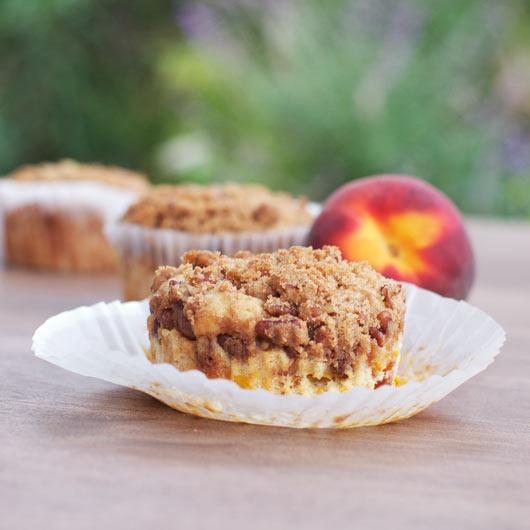 Pecan Peach Muffins