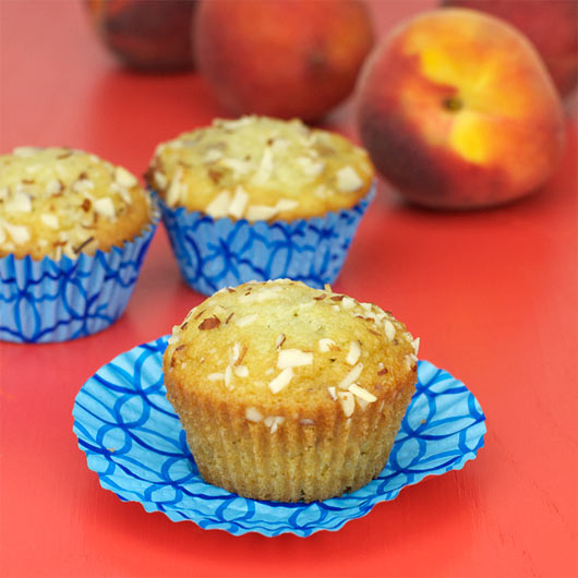 almond peach muffins did you know peaches and almonds are in the same ...