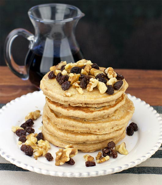 Serving of Low-Fat Whole Wheat Pancakes