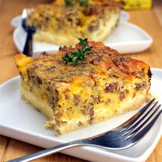 Overnight Egg-Sausage Bake Recipe | MrBreakfast.com