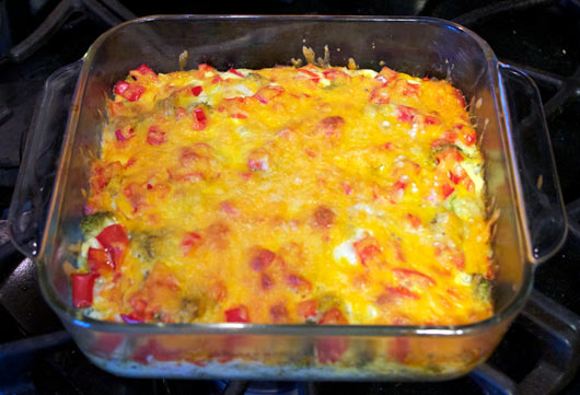 Baked Vegetable Omelette In The Pan