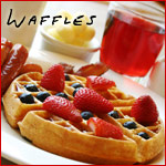 Buttermilk Waffles With Razzle-Dazzle