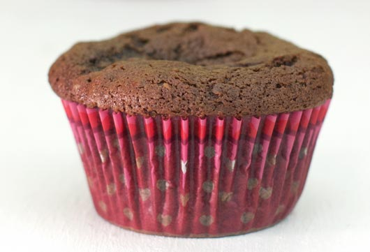 Unfrosted Sour Cream Chocolate Muffin
