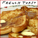 Cheese and Raisin Stuffed French Toast