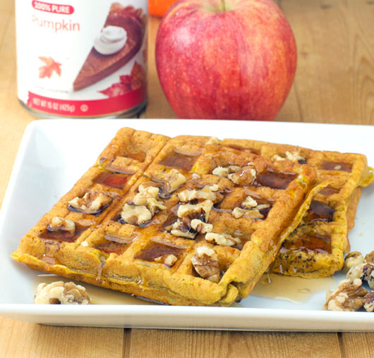 Pumpkin Apple Waffles