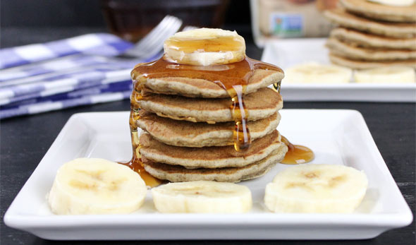 Banana-Buttermilk Pancakes Recipe — Dishmaps