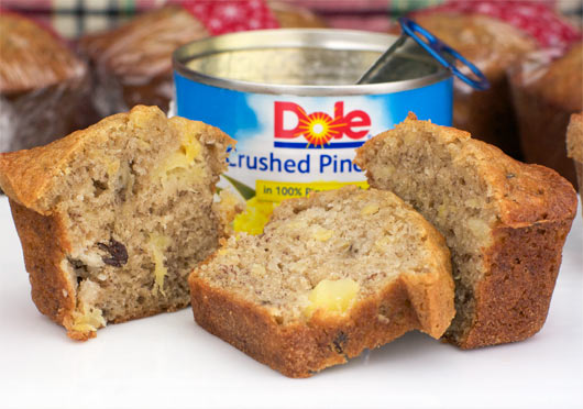 Sliced Banana Pineapple Bread