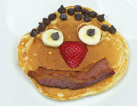 Smile-Face Chocolate Chip Pancakes