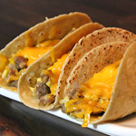 Sausage Stuffed Soft Breakfast Tacos