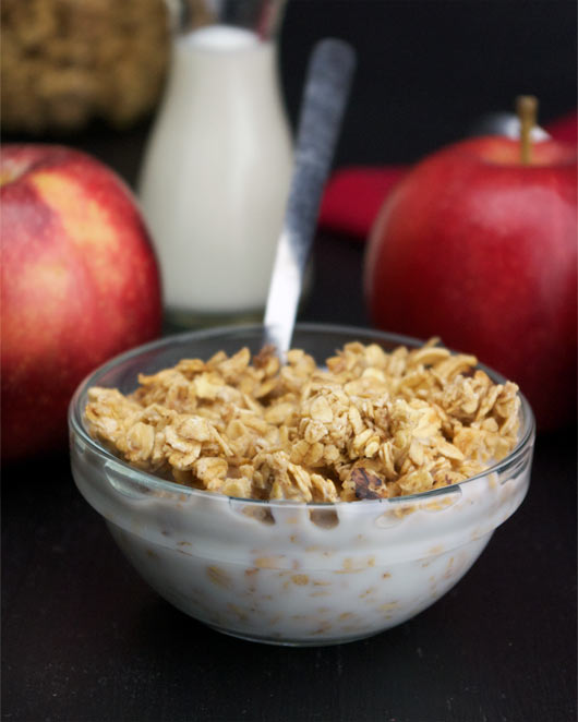 Apple Granola With Milk