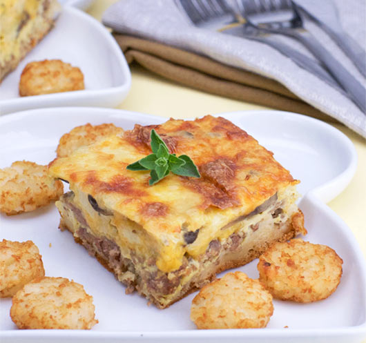 Serving of Texas Breakfast Casserole