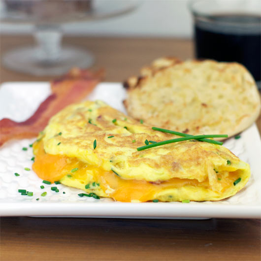 Bacon, Cheddar & Chives Omelette