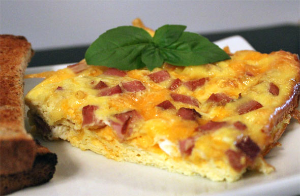 Ham & Cheese Baked Eggs