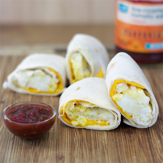 Egg And Cheese Tortillas (aka Two-Minute Breakfast Burritos)