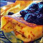 Honey Blueberry Blintzes