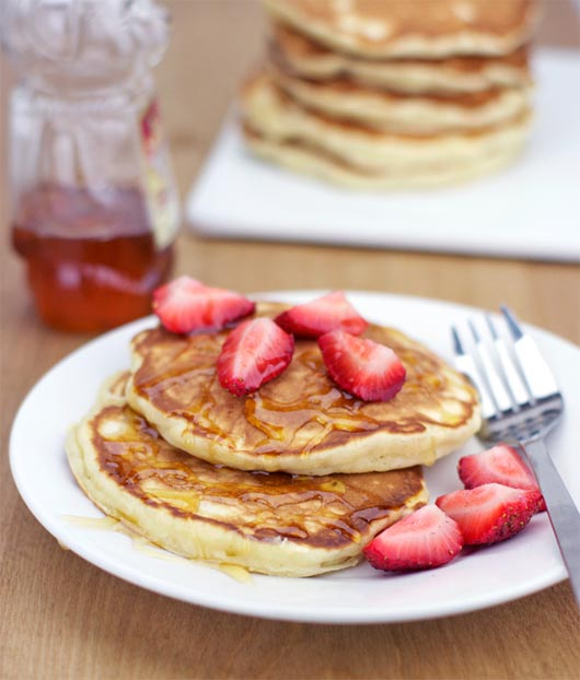 A Serving Of Honey Apple Pancakes