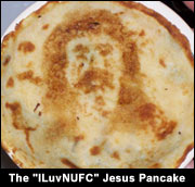 The ILuvNUFC Jesus Pancake