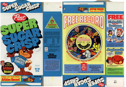 Super Sugar Crisp Archies Flexi Record