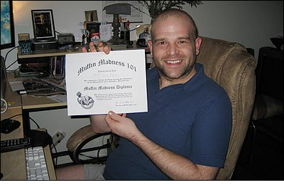 Shacklefoot Matt With Muffin Madness Diploma