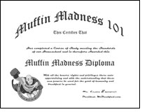 Printable Muffin Madness Diploma