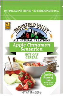 Brookfield Valley Apple Cinnamon Sensation Hot Oat Cereal