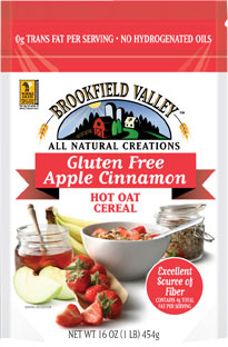 Brookfield Valley Gluten Free Apple Cinnamon Hot Oat Cereal