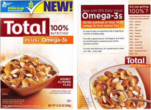 Total Plus+ Omega-3s Honey Almond Flax