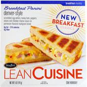 Lean cuisine breakfast paninis review for Nutrisystem food vs lean cuisine