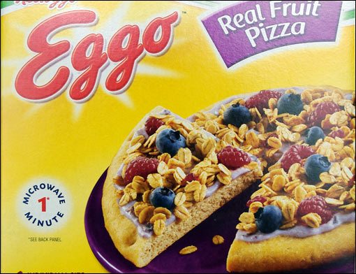 Eggo real fruit pizza review mrbreakfast eggo real fruit pizza on package ccuart Choice Image