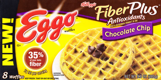 Eggo FiberPlus Chocolate Chip Waffles